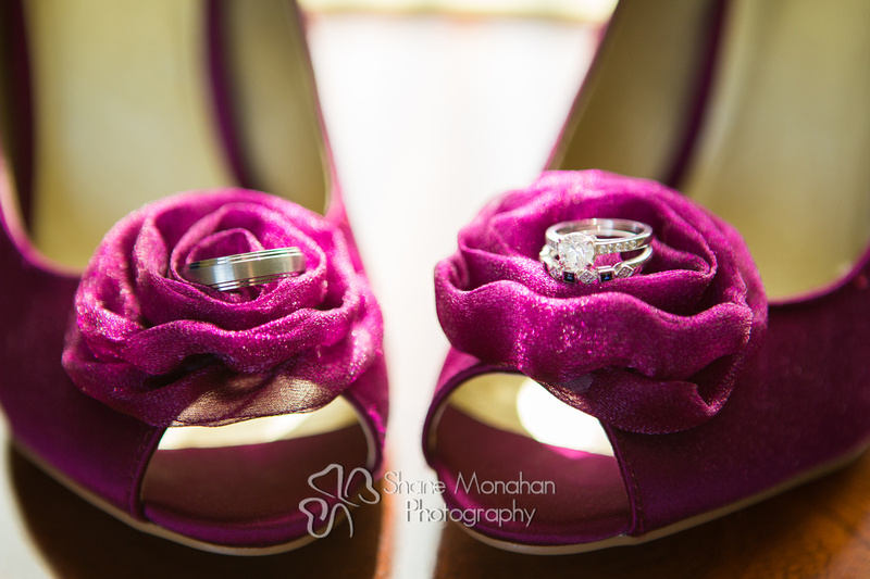 Sioux City and South Sioux City Art Deco wedding, Donna and Jack by Shane Monahan Photography, Iowa Wedding & Portrait photographers Shoes and rings