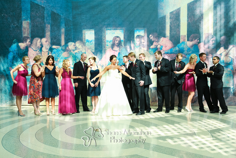 Sioux City and South Sioux City Art Deco wedding, Donna and Jack by Shane Monahan Photography, Iowa Wedding & Portrait photographers, the last supper