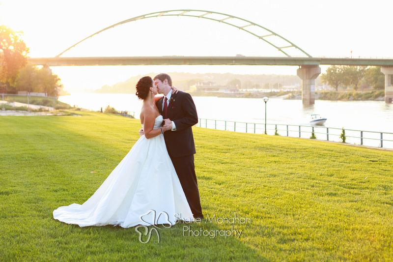 Sioux City and South Sioux City Art Deco wedding, Donna and Jack by Shane Monahan Photography, Iowa Wedding & Portrait photographers, the riverfront