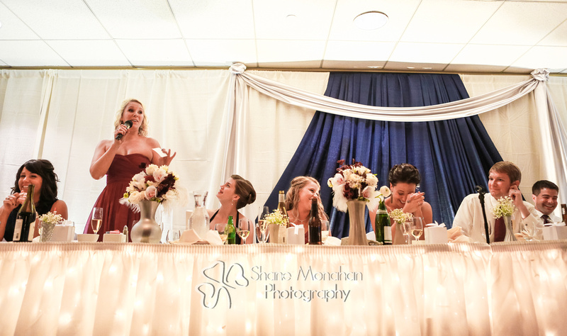 Sioux City and South Sioux City Art Deco wedding, Donna and Jack by Shane Monahan Photography, Iowa Wedding & Portrait photographers, maid of honor speech