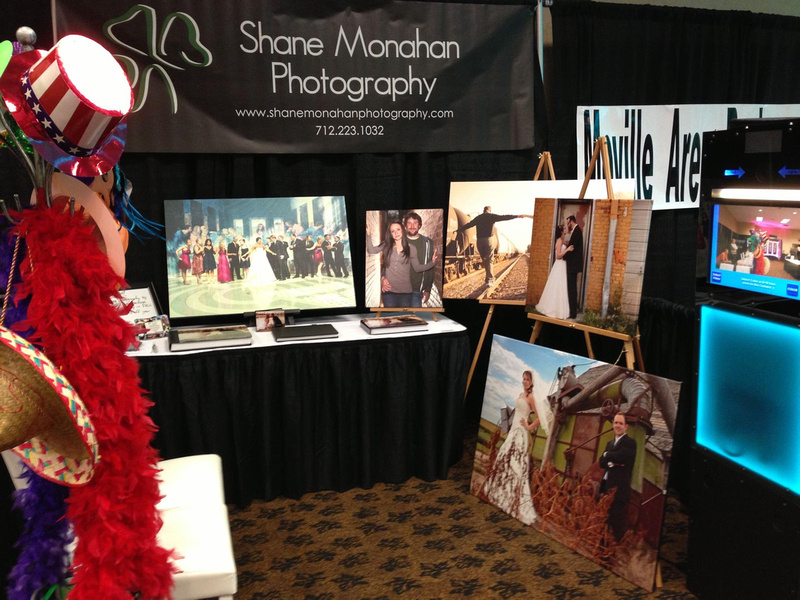 Bridal Show Booth for Shane Monahan Photography at the Stoney Creek Inn - Sioux City, Iowa