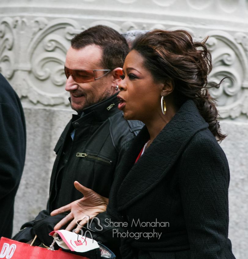 Oprah Winfrey and Bono of U2 in Chicago, Illinois - photo taken by Shane Monahan Photography - Sioux City Photographers, Iowa Wedding & Portrait Photography