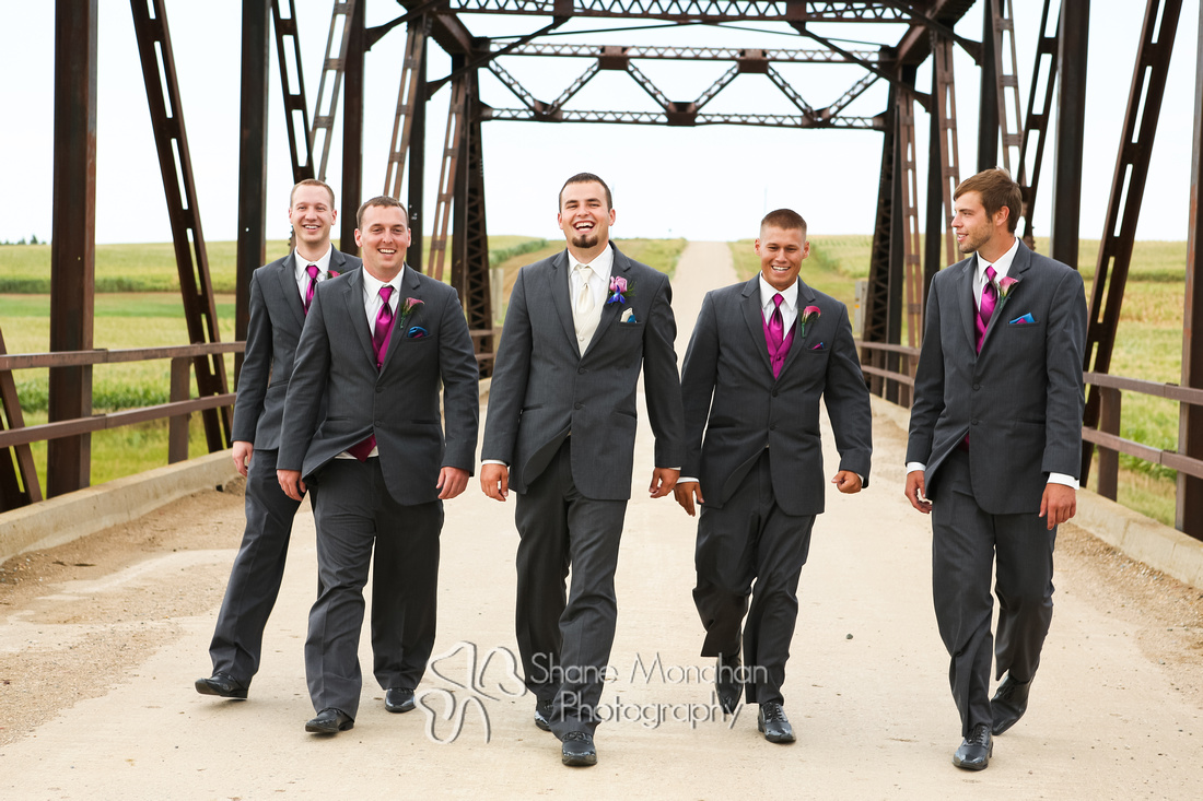 Alyssa and Zach Utech Wedding, grooms men - Sioux City Photographers - Shane Monahan Photography, Iowa Wedding & Portrait Photographer, Photo Booth Rental, Remsen, IA