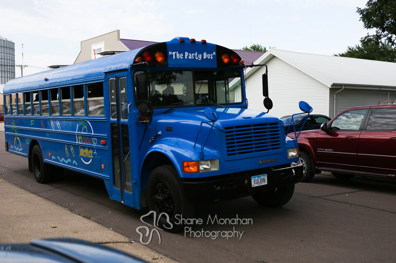 Alyssa and Zach Utech Wedding, party bus - Sioux City Photographers - Shane Monahan Photography, Iowa Wedding & Portrait Photographer, Photo Booth Rental, Remsen, IA