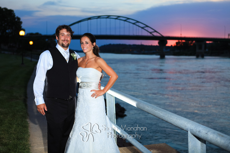 Maggie and BJ Wylie Wedding, Sunset bridge - Sioux City Photographers - Shane Monahan Photography, Iowa Wedding & Portrait Photographer, Photo Booth Rental